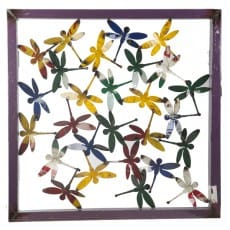 Dragonfly Framed Wall Panel