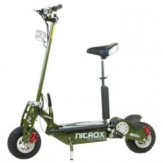 Elscooter Rull 800 W Dirt Med Lysen ARMY GREEN