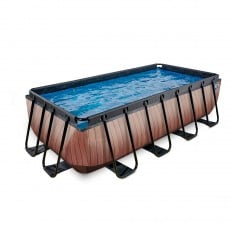 Pool EXIT Frame Premium 4x2x1m Timber Style